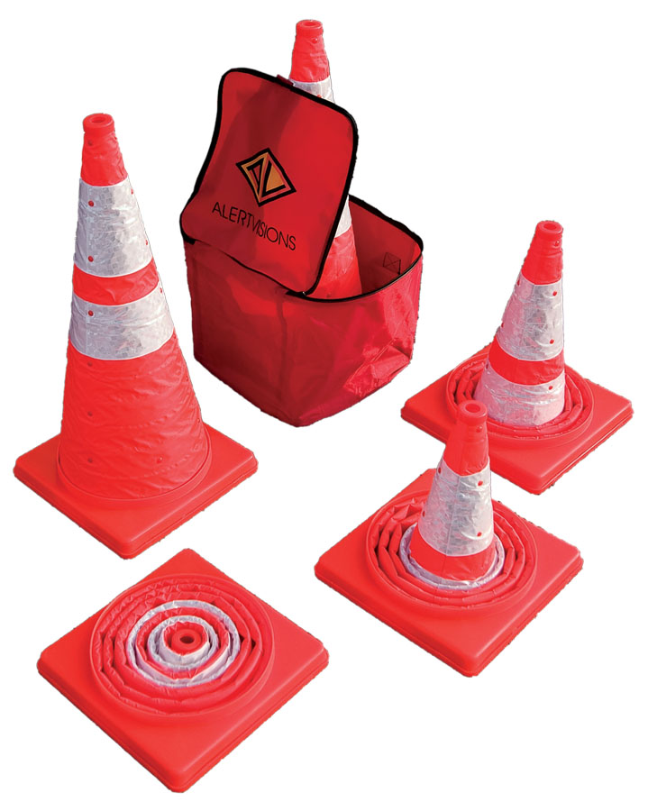 "28"" Popup Flashing Cones"